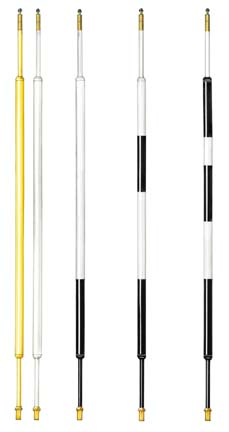 8 ft. Aluminum / Fiberglass Tournament Flagsticks (Black Stripe) - Set of 9 PAR-703-089