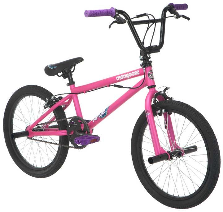 "Mongoose Rave R10 20"" Girl's Freestyle Bike, Matte Pink"