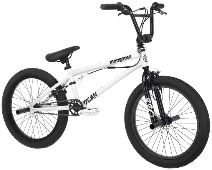 Mongoose 20 inch Boys Scan R20 Freestyle Bike -White