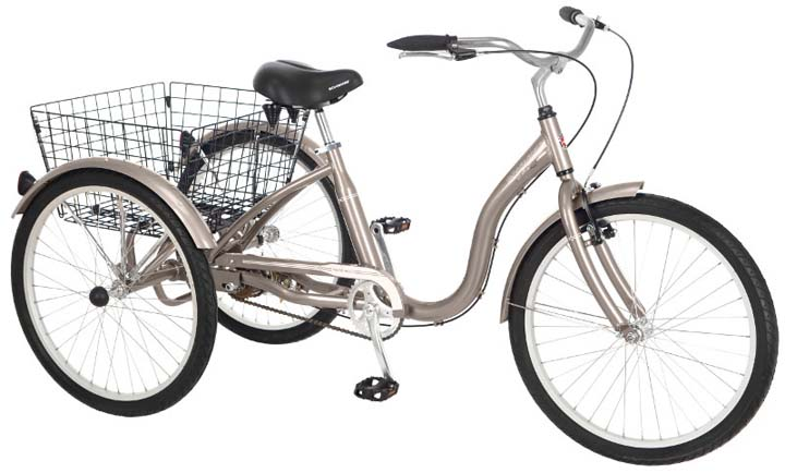 26 Unisex Meridian Adult Tricycle / Trike from Schwinn (Dark Silver)
