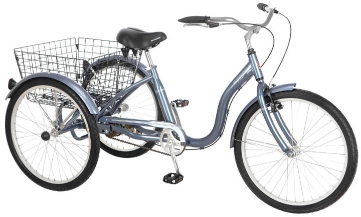 24 Unisex Meridian Adult Tricycle / Trike from Schwinn (Slate Blue)