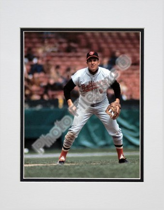 """Brooks Robinson, Baltimore Orioles Double Matted 8"""" X 10"""" Photograph (Unframed)"""