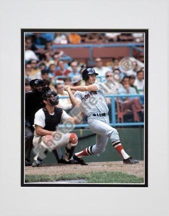 "Carl Yastrzemski, Boston Red Sox Double Matted 8"" X 10"" Photograph (Unframed)"
