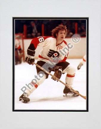 "Bobby Clarke, Philadelphia Flyers Double Matted 8"" X 10"" Photograph (Unframed)"