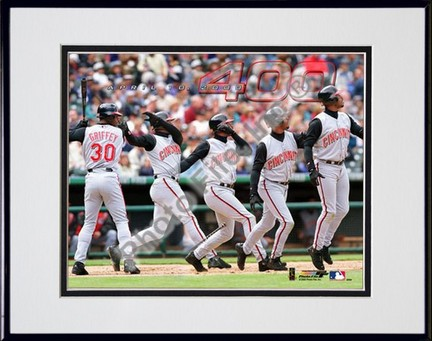 "Ken Griffey, Jr., Cincinnati Reds ""400th Home Run Multi-Exposure"" Double Matted 8"" X 10"" Photograph"