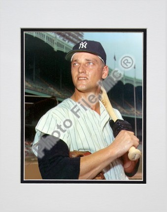 "Roger Maris, New York Yankees Double Matted 8"" X 10"" Photograph (Unframed)"