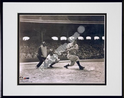 """Lou Gehrig, New York Yankees """"Batting"""" Double Matted 8"""" X 10"""" Photograph in Black Anodized Aluminum"""