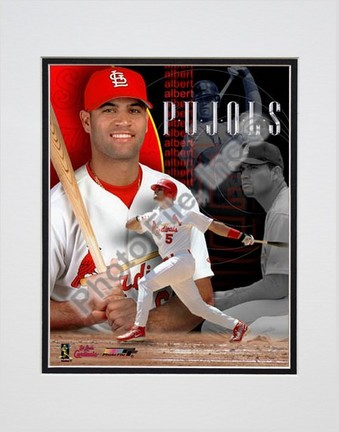 "Sporting Goods Stores Albert Pujols, St. Louis Cardinals ""Team Composite"" Double Matted 8"" X 10"" Photograph (Unframed)"