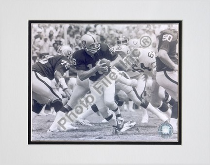 """George Blanda, Oakland Raiders Double Matted 8"""" X 10"""" Photograph (Unframed)"""