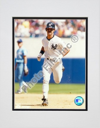 "Don Mattingly, New York Yankees ""Running The Bases"" Double Matted 8"" X 10"" Photograph (Unframed)"