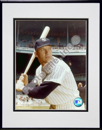 "Mickey Mantle, New York Yankees ""#8 Posed With Bat (Yankee Stadium)"" Double Matted 8"" X 10"" Photogra"