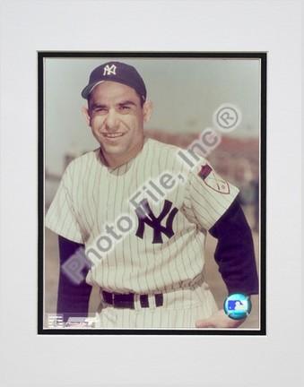 "Yogi Berra, New York Yankees Double Matted 8"" X 10"" Photograph (Unframed)"