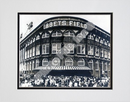 """Ebbets Field """"Outside #2"""" Double Matted 8"""" X 10"""" Photograph (Unframed)"""