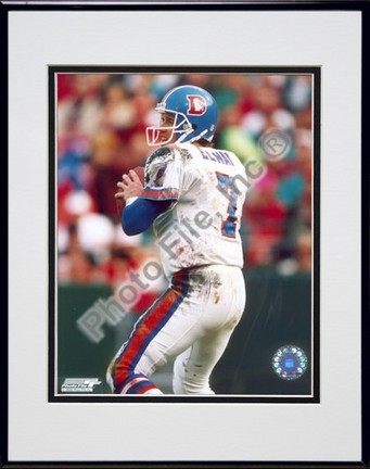 """John Elway """"Old Uniform"""" Double Matted 8"""" X 10"""" Photograph in Black Anodized Aluminum Frame"""
