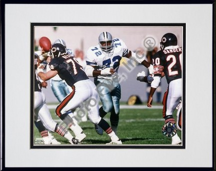 """Ed """"Too Tall"""" Jones Action Double Matted 8"""" X 10"""" Photograph in Black Anodized Aluminum Frame"""