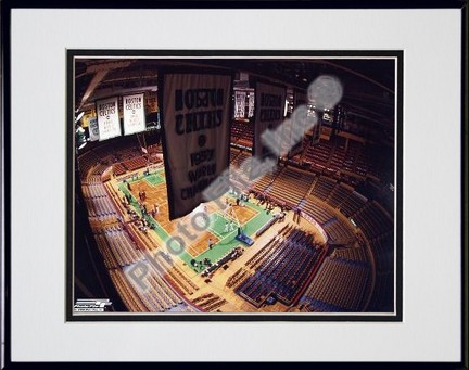 Boston Garden NBA Double Matted 8 X 10 Photograph in Black Anodized Aluminum Frame