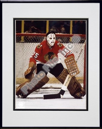 Tony Esposito Action Double Matted 8 X 10 Photograph in Black Anodized Aluminum Frame