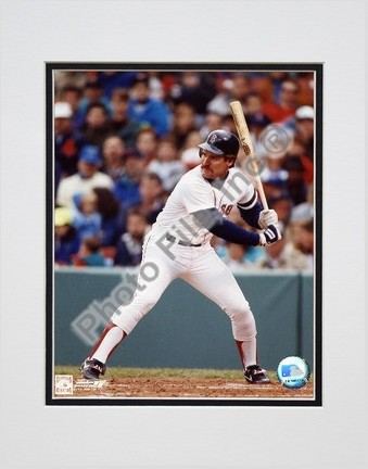 """Wade Boggs (Boston Red Sox) """"Batting"""" Double Matted 8"""" X 10"""" Photograph (Unframed)"""