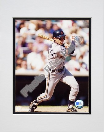 "Alan Trammell ""Batting"" Double Matted 8"" X 10"" Photograph (Unframed)"