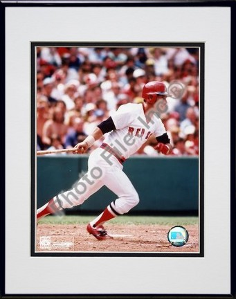 Carl Yastrzemski Finish Swing Double Matted 8 X 10 Photograph in Black Anodized Aluminum Frame