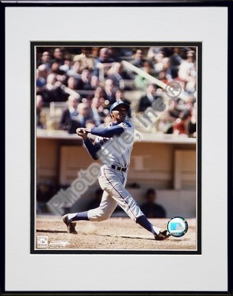 Billy Williams Swinging Double Matted 8 X 10 Photograph in Black Anodized Aluminum Frame