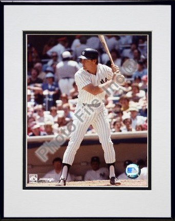"""Graig Nettles """"Batting"""" Double Matted 8"""" X 10"""" Photograph in Black Anodized Aluminum Frame"""