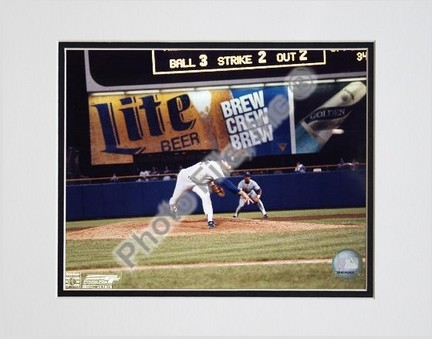 "Nolan Ryan, Texas Rangers, 300th Win (Last Pitch), Double Matted  8"" X 10"" Photograph (Unframed)"