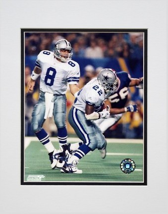 "Troy Aikman and Emmitt Smith Double Matted 8"" x 10"" Photograph (Unframed)"