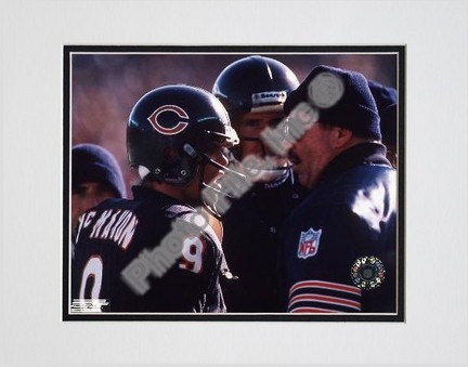 """Jim McMahon and Mike Ditka, Chicago Bears, Double Matte  8"""" X 10"""" Photograph (Unframed)"""