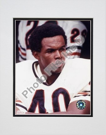"Gale Syers, Chicago Bears, Close up, Sidelines, Double Matte  8"" X 10"" Photograph (Unframed)"