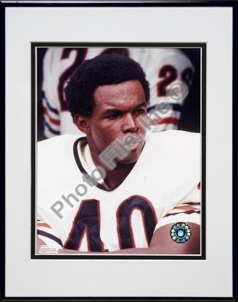 "Gale Syers, Chicago Bears, Close up, Sidelines, Double Matte  8"" X 10"" Photograph in Black Anodized Aluminum F"