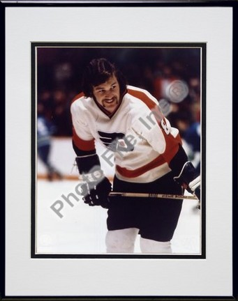 Dave Schultz Action Double Matted 8 X 10 Photograph in Black Anodized Aluminum Frame