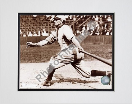 "Honus Wagner ""Batting, Sepia"" Double Matted 8"" x 10"" Photograph (Unframed)"