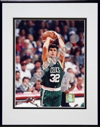 "Kevin McHale ""Action"" Double Matted 8"" x 10"" Photograph in Black Anodized Aluminum Frame"