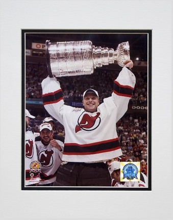 """Martin Brodeur """"New Jersey Devils '03 Stanley Cup (#03)"""" Double Matted 8"""" x 10"""" Photograph (Unframed"""