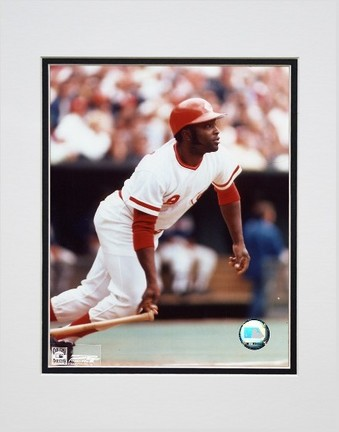 "Joe Morgan ""Batting"" Double Matted 8"" x 10"" Photograph (Unframed)"