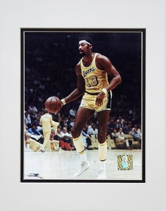 "Wilt Chamberlain ""Action"" Double Matted 8"" x 10"" Photograph (Unframed)"