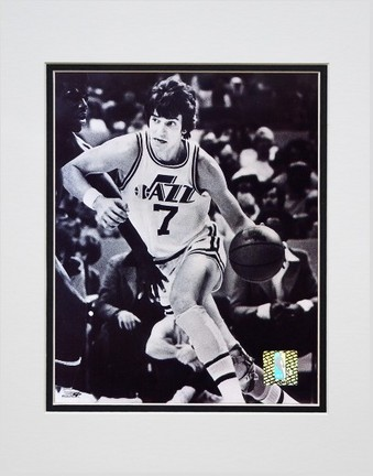 "Pete Maravich ""Court Action"" Double Matted 8"" x 10"" Photograph (Unframed)"