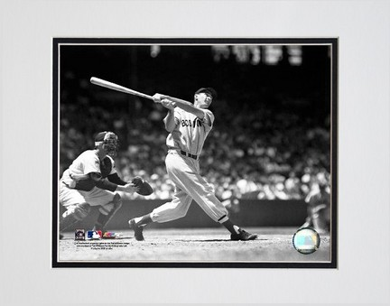 """Ted Williams """"Batting (Sepia)"""" Double Matted 8"""" X 10"""" Photograph (Unframed)"""
