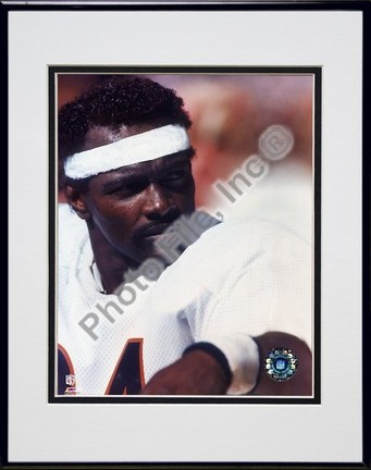 "Walter Payton ""On Sidelines"" Double Matted 8"" x 10"" Photograph in Black Anodized Aluminum Frame"