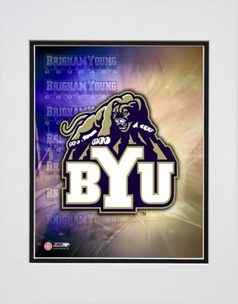 "Brigham Young (BYU) Cougars Logo Double Matted 8"" x 10"" Photograph (Unframed)"
