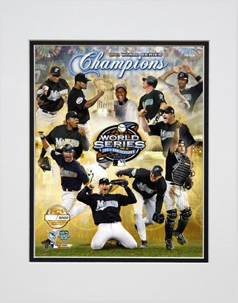"""2003 Florida Marlins Champions Composite Photo File Gold Limited Edition Double Matted 8"""" x 10"""" Photograph (Un"""