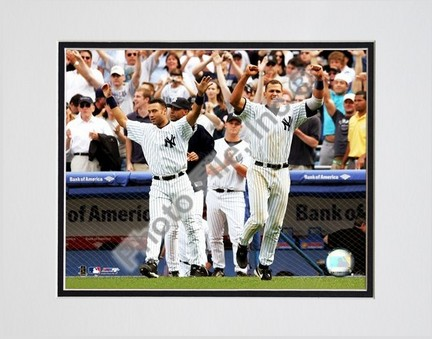 "Alex Rodriguez and Derek Jeter ""2004 Celebrating"" Double Matted 8"" X 10"" Photograph (Unframed)"