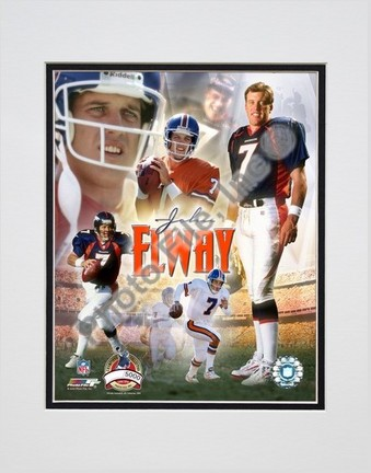 """John Elway """"2004 PF Gold IV Limited Edition"""" Double Matted 8"""" X 10"""" Photograph (Unframed)"""