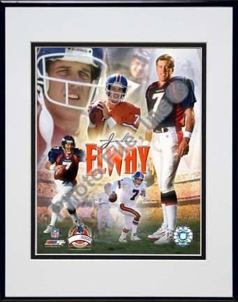 "John Elway ""2004 PF Gold IV Limited Edition"" Double Matted 8"" X 10"" Photograph in Black Anodized Alu"