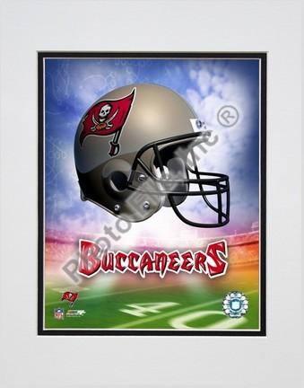 "Tampa Bay Buccaneers ""Helmet Logo"" Double Matted 8"" X 10"" Photograph (Unframed)"