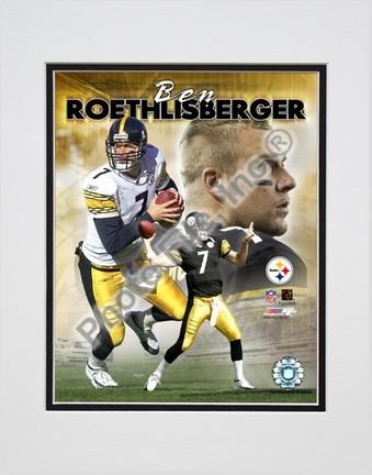 "Ben Roethlisberger ""Portrait Plus 2004 Composite"" Double Matted 8"" X 10"" Photograph (Unframed)"