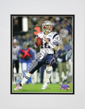 """Tom Brady """"Super Bowl XXXIX Passing in First Quarter"""" Double Matted 8"""" X 10"""" Photograph (Unframed)"""