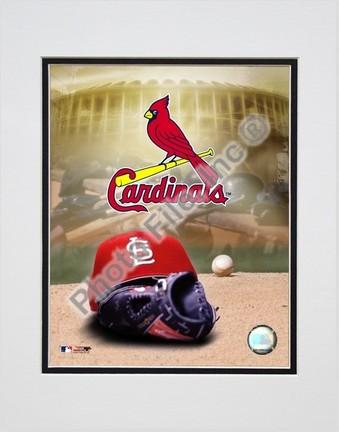 St. Louis Cardinals 2004 Logo  Cap Double Matted 8 X 10 Photograph Unframed