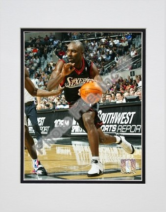 Aaron McKie 2004  2005 Action Double Matted 8 X 10 Photograph Unframed